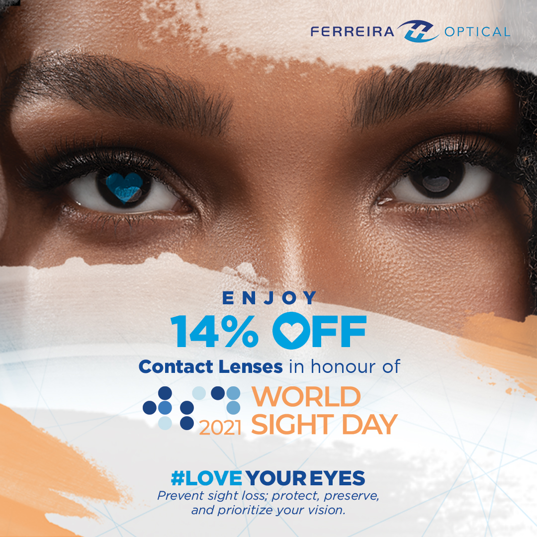 Celebrate World Sight Day 2021 with this special offer of 14% OFF your contact lens purchase